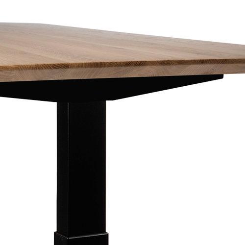 Ethnicraft Bok verstelbare tafel eik - zwart frame