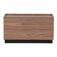 Block bijzettafel grenen/walnoot 40 x 82