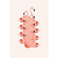 IXXI wanddecoratie - Piled Flamingos