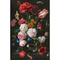 IXXI wanddecoratie - Stilleven met bloemen in een glazen vaas