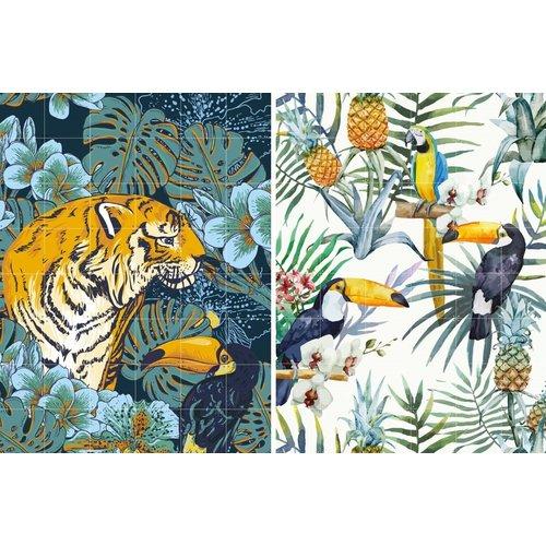IXXI IXXI wanddecoratie dubbelzijdig - Tiger Jungle & Toucan Family