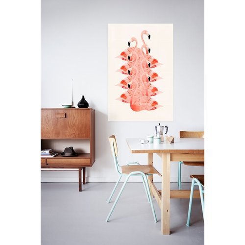 IXXI IXXI wanddecoratie - Piled Flamingos