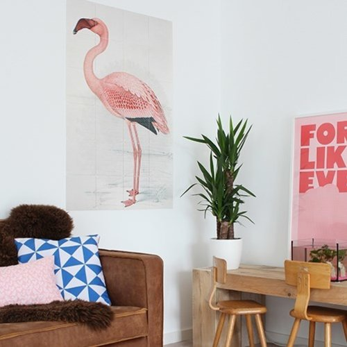 IXXI IXXI wanddecoratie - Greater flamingo