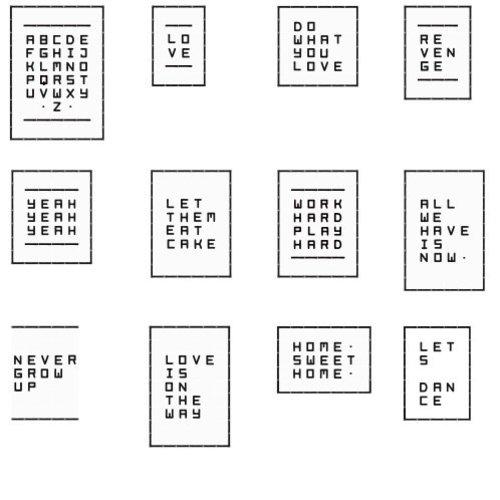 IXXI IXXI wanddecoratie - Quotes White (75kaarten)