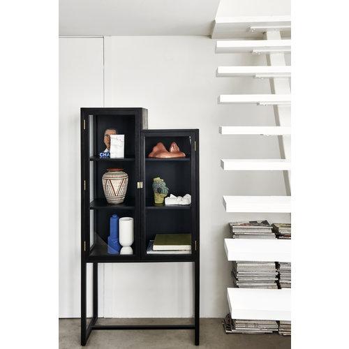 HK Living Stairs cabinet vitrinekast zwart hout