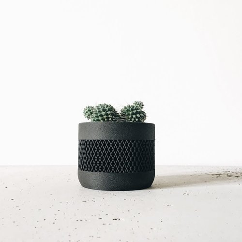 Minimum Design Math bloempot zwart Ø 15 cm