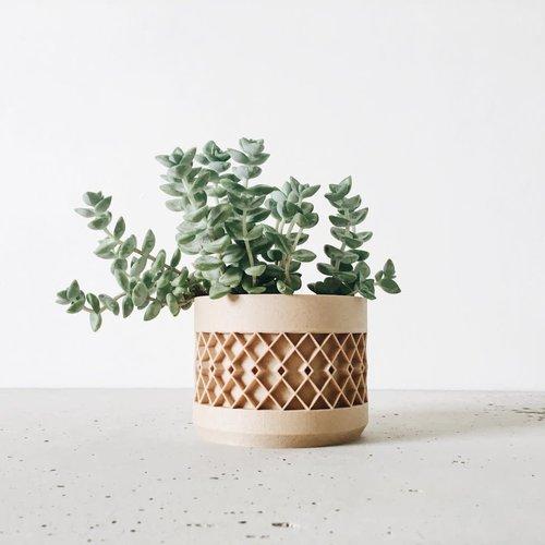 Minimum Design Aztek bloempot natuur Ø 15 cm