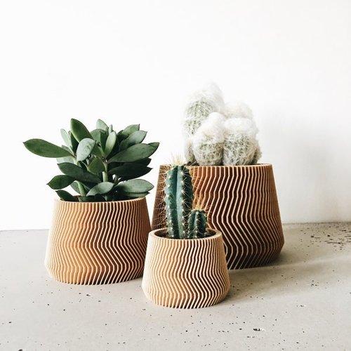 Minimum Design Savanne bloempot natuur Ø 8,5 cm