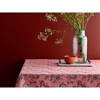 Shadow flower afwasbaar tafelkleed Terracota per cm
