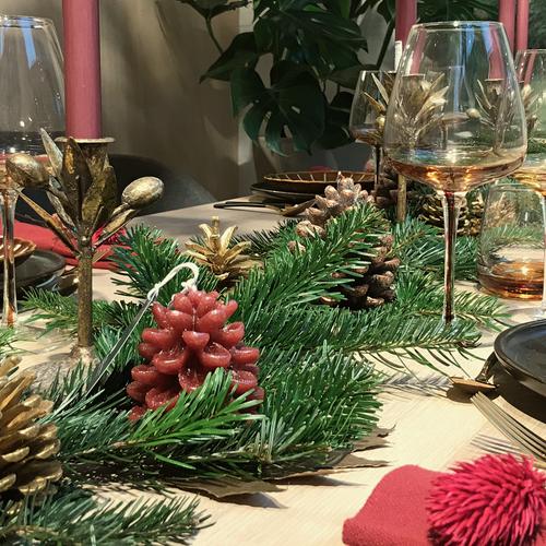 Een warme kersttafel