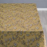 Shadow flower afwasbaar tafelkleed Golden per cm