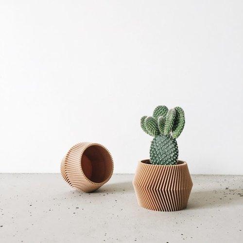 Minimum Design Dissipat bloempot natuur Ø 8,5 cm