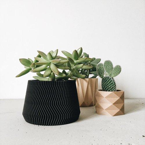 Minimum Design Savanne bloempot zwart Ø 8,5 cm