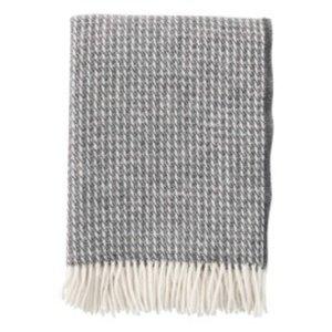 Klippan Line plaid donkergrijs wol