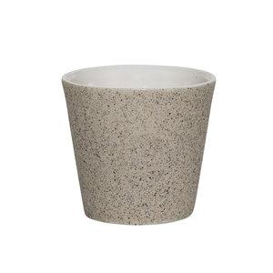 Bloomingville Theelichthouder/bloempotje gebroken wit-zand