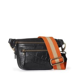O My Bag Beck's bum bag zwart croco leder