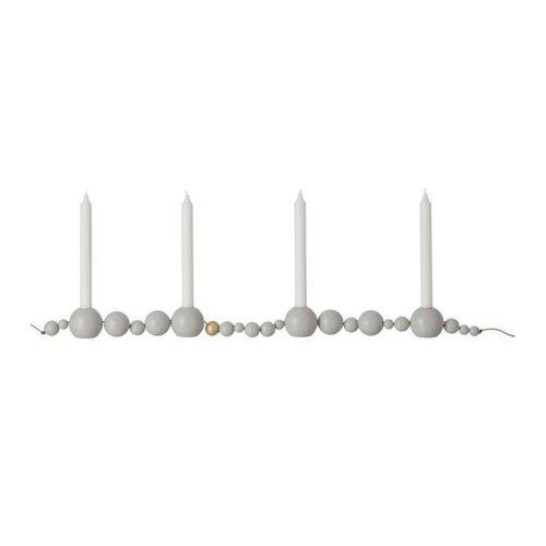 Ferm Living Candleholder string kaarsenhouder grijs