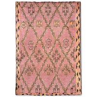 Handgeknoopt berber tapijt wol terra/oranje 250 x 350