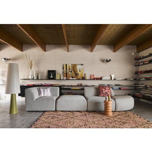 HK Living Handgeknoopt berber tapijt wol terra/oranje 180 x 280