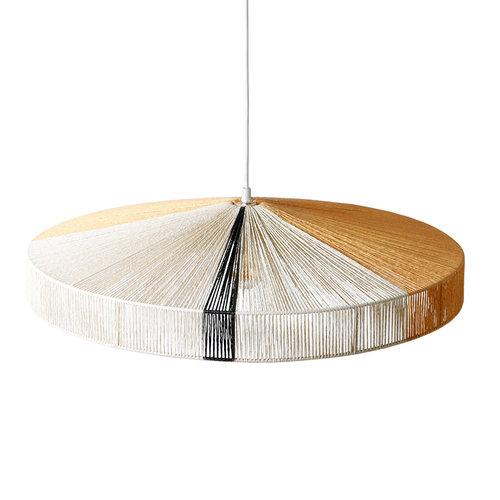 HK Living Hanglamp touw zwarte strook