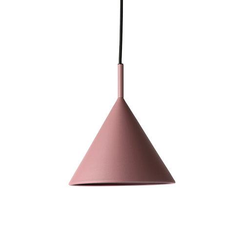 HK Living Metalen driehoek hanglamp mat paars medium