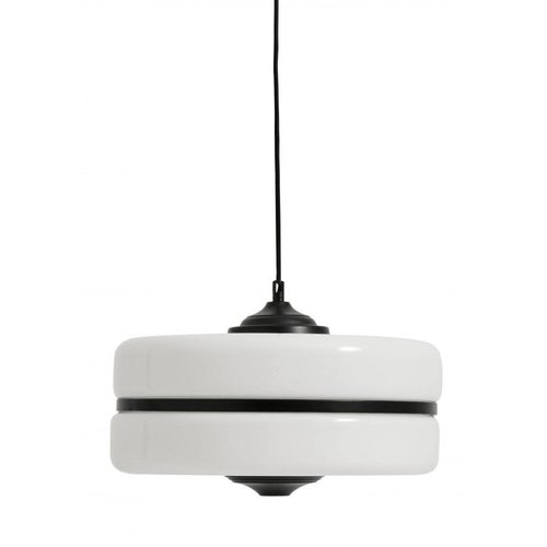 nordal Hanglamp glas met zwart ijzer TOONZAALMODEL