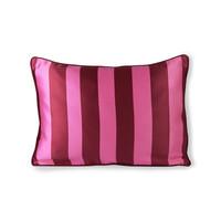 Kussen in satijn en fluweel roze/paars