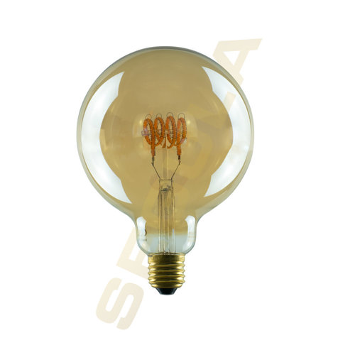 Segula LED lamp globe 125 curved golden E27 300lm 8W