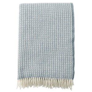 Klippan Line plaid lichtblauw wol
