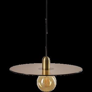 Bolia Flachmann hanglamp groot mat antieke messing amber