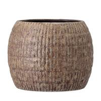 Nino bloempot bruin aardewerk Ø17