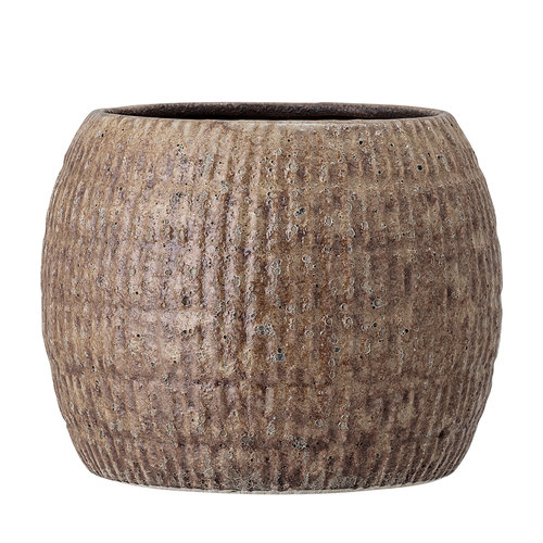 Bloomingville Bloempot bruin aardewerk Ø17