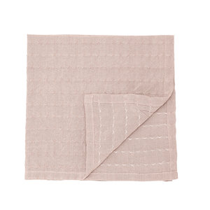 Bloomingville Gento servet roze katoen set van 4