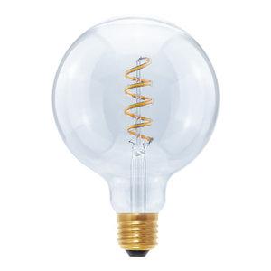 Segula LED lamp globe 125 Curved spiral E27 350lm 8W