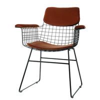 Comfort kit voor metalen draadstoel met armleuningen terra (velours)