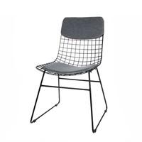 Comfort kit voor metalen draadstoel  grijs