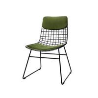 Comfort kit voor metalen draadstoel  groen (fluweel)