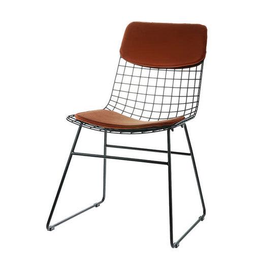 HK Living Comfort kit voor metalen draadstoel  terra (velours)