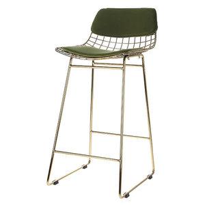 HK Living Comfort kit voor draad barstoel groen fluweel
