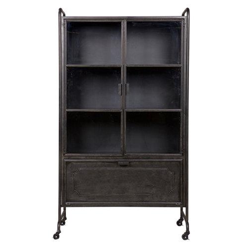 BePureHome Steel storage vitrinekast metaal zwart