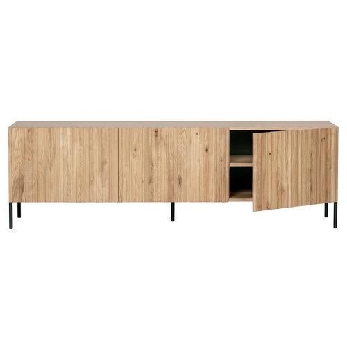 WOOOD Gravure tv meubel eiken naturel