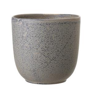Bloomingville Sima bloempot grijs keramiek