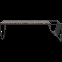 Piero salontafel zwartgelakte staal