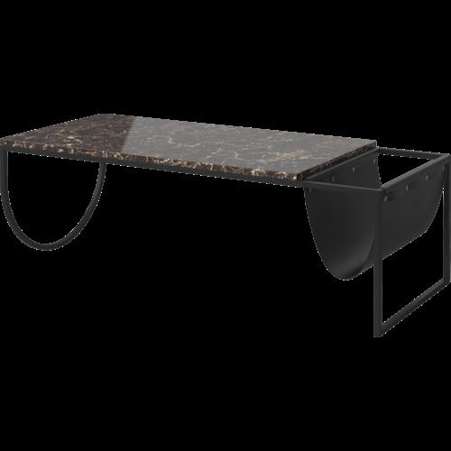Bolia Piero salontafel zwartgelakte staal