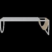 Piero salontafel witgelakte staal