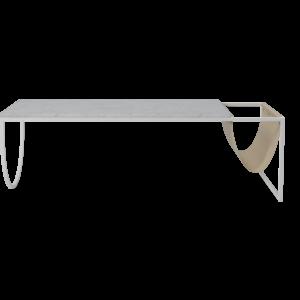 Bolia Piero salontafel witgelakte staal