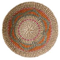 Terrain wandmand jute oranje Ø 40 cm