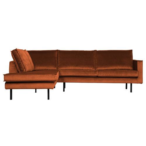 BePureHome Rodeo hoeksofa links fluweel