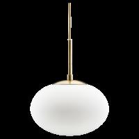 Opal hanglamp wit