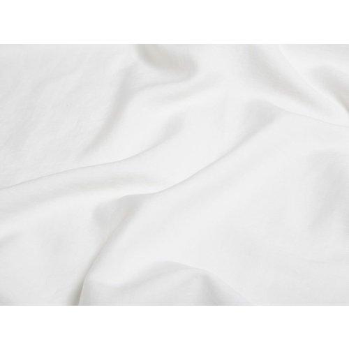 Yumeko Hoeslaken gewassen katoensatijn wit
